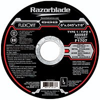 Flexovit F1707 6 X .045 X 7/8 A60Sst Metal Cut-Off Wheel (25 Pack)