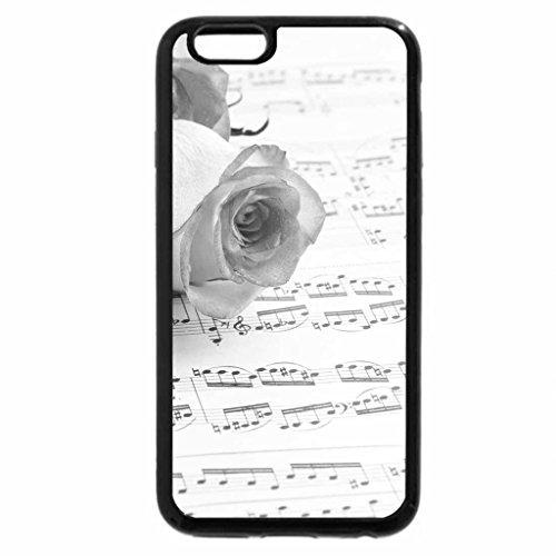 iPhone 6S Case, iPhone 6 Case (Black & White) - Music & Roses