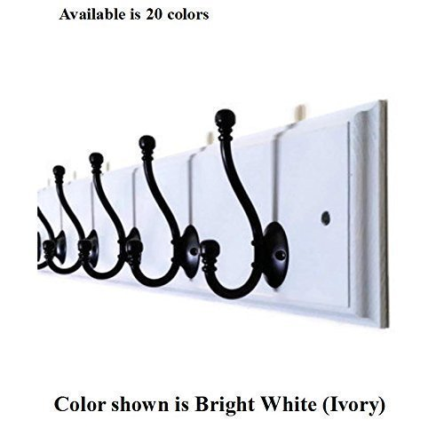 Renewed Décor Countryside Hatboro Coat and Cap Rack Featuring a Decorative Routed Edge. Choose from 25 Colors and 3,4,5,6,7,8 or 10 Hooks