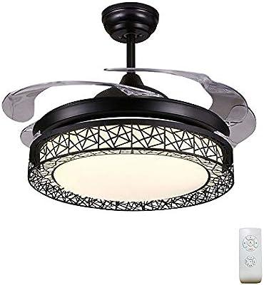 BUKEHANWEI Ventilador De Techo con Lámpara, Diseño De Forma De ...