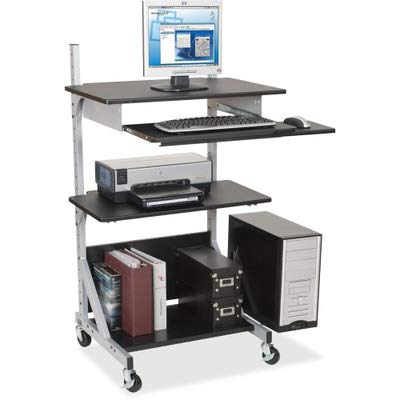 Balt Alekto-3 Totally Adjustable Workstation - Rectangle - 52quot; Height - Metal - Black Frame
