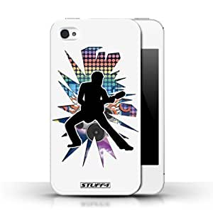 KOBALT? Protective Hard Back Phone Cover for Diy For SamSung Galaxy S3 Case Cover | Stretch White | Rock Star Pose Collection