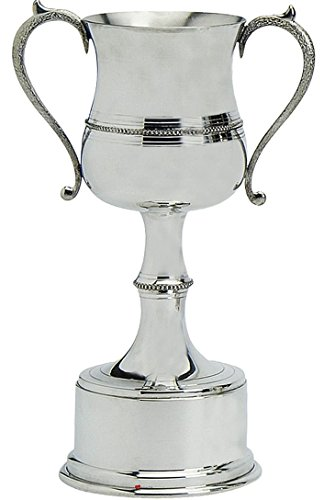 Polished Football - iLuv Pewter Sporting Trophy 8inch Polished Beaded Style Football, Rugby, Rowing, Golf