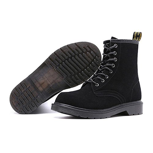 da 41 stivali donna antiscivolo Piatto 37 caldo Scarpe da black trekking Inverno casuali Sqw606