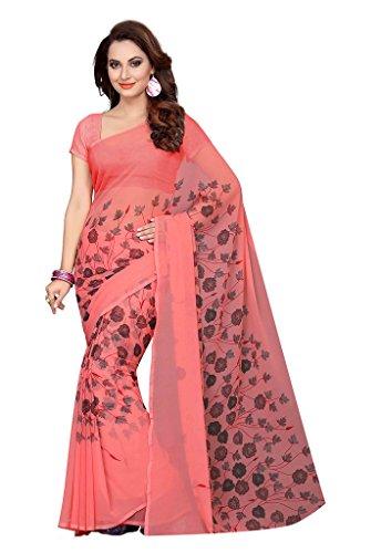 9b08cab201892 ishin Women s Saree With Blouse Piece Free Size Orange