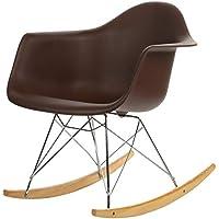 Joseph Allen Home PV-EAMS-RC-BRN Mid-Century Modern Rocking Chair, Brown