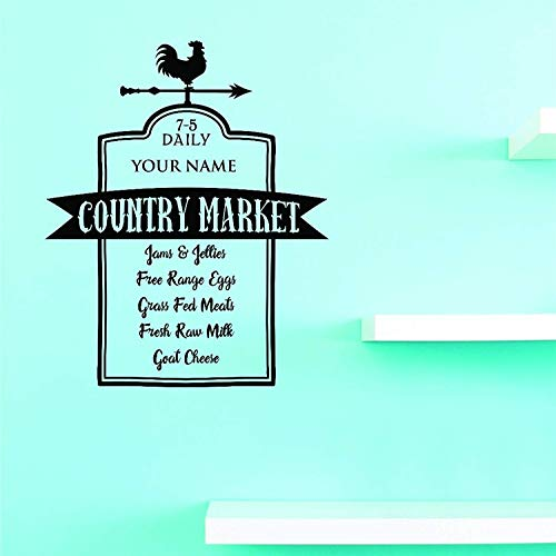 - Design with Jer - Daily Your Name Country Market Jams Jellies Free Range Eggs Grass Fed Meats Fresh Raw Milk Goat Cheese Art Wall Decals Decor Vinyl Sticker Q13718