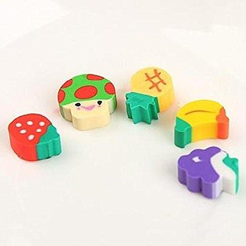 50PCS Mini Fruit Rubber Pencil Eraser Strawberry Creative Stationery Kids - Santa Mall High Street