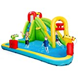 Best Inflatable Water Slides - BOUNTECH Inflatable Bounce House, 7-in-1 Water Pool Slide Review