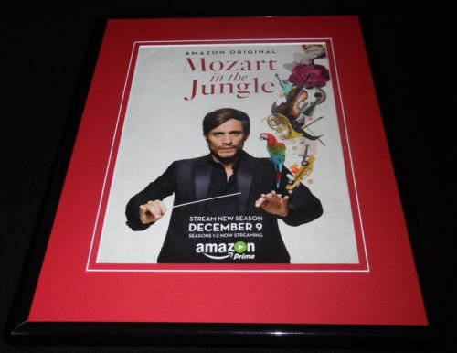 Mozart in the Jungle Amazon Framed ORIGINAL Advertisement Gael Garcia Bernal