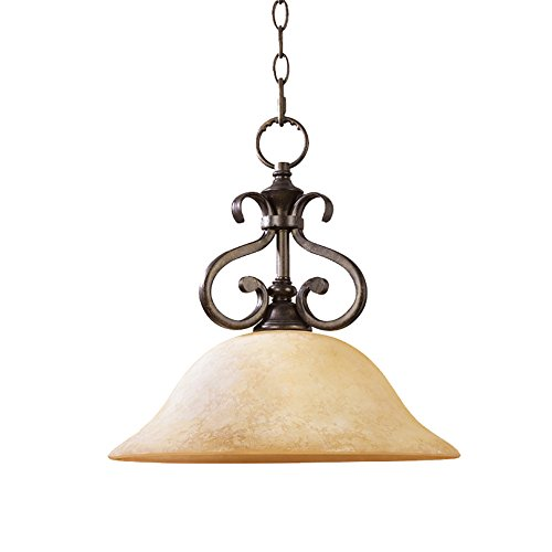 Leihongthebox Industrial Vintage Pendant Light Shade Black Retro Ceiling Lighting Metal Loft Bar Chandelier Restaurant Pendant Lamp Shade E60 Base Iron Art into single head ,4040CM(E261) Chandelier