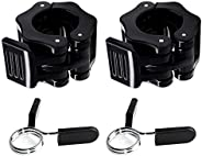 Barbell Clamps Set, 2 Pcs Olympic Barbell Clamps 1 Inch Quick Release Dumbbell Lock Clips with 2 Pcs Exercise