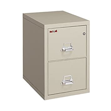 Fireking Fireproof 2 Hour Rated Vertical File Cabinet (2 Letter Sized  Drawers, Impact Resistant
