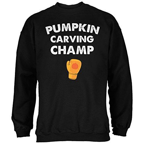 Halloween Pumpkin Carving Champ Black Adult Sweatshirt - X-Large