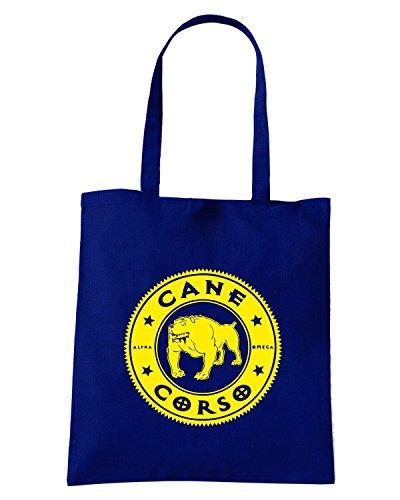 T-Shirtshock - Bolsa para la compra FUN0942 cane corso kids baseball jersey Azul Marino