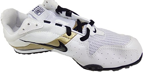 NIKE RIVAL D PLUS (2) RUNNING SPIKES (WHITE/BLACK/METALLIC GOLD) (6.5) LlIDLd4Tk