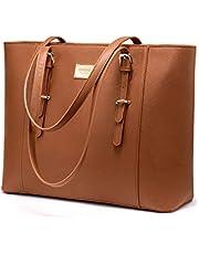 LOVEVOOK Laptop Tasche 15.6 Zoll Shopper Damen Groß Business Laptop Tasche Handtasche Damen Schultertasche für Interview/Arbeit/Geschäft/Hochschule