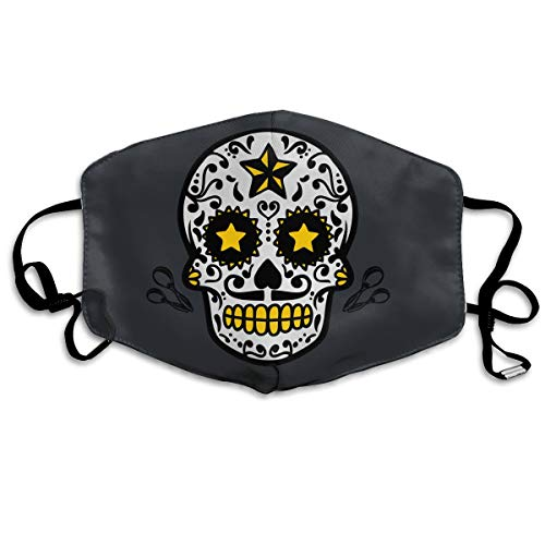Calavera Skull Halloween Mouth Mask Unisex Printed Fashion Face Mask Anti-dust -
