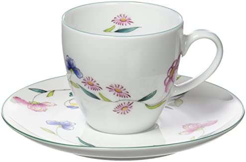 Porcel Florence Taza café con Plato, Porcelana, Decorado y Blanco ...