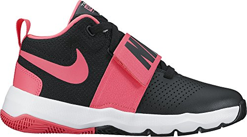 Nike Boys Team Hustle D 8  Gs  Basketball Shoe Black Racer Pink White Size 5 M Us