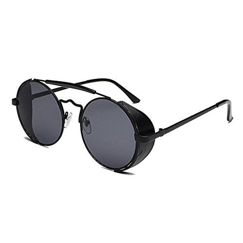 Hommes Femmes Classique Lunettes de Soleil Rondes hibote avec UV400 Protection C4 yJ8RcmM