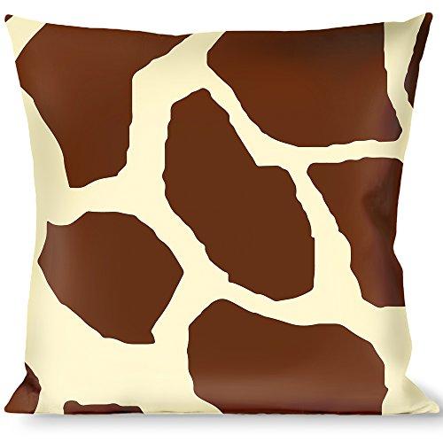 Buckle Down Giraffe Spots2 Cream/Brown Throw Pillow