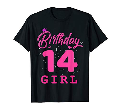 Costume Ideas For 14 Year Olds (Happy Birthday Shirt, Girls 14th Party 14 Years Old)