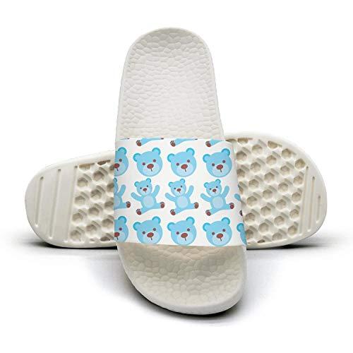 Xjdws Cartoblue Bear Boy Baby Shower Womens Sandals Indoor/Outdoor Comfort Slippers Soft free shipping