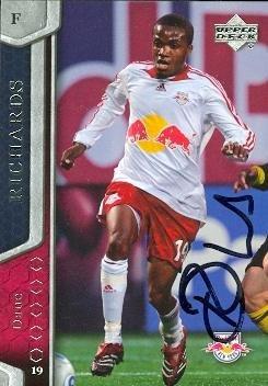 Dane Richards autographed Soccer Card (MLS Soccer) 2007 Upper Deck #85
