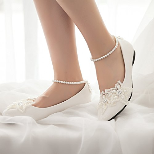 Shoes Star Pearls Across Dress getmorebeauty Wedding Mary Women's Jane Tops Flats qxwfa4vp