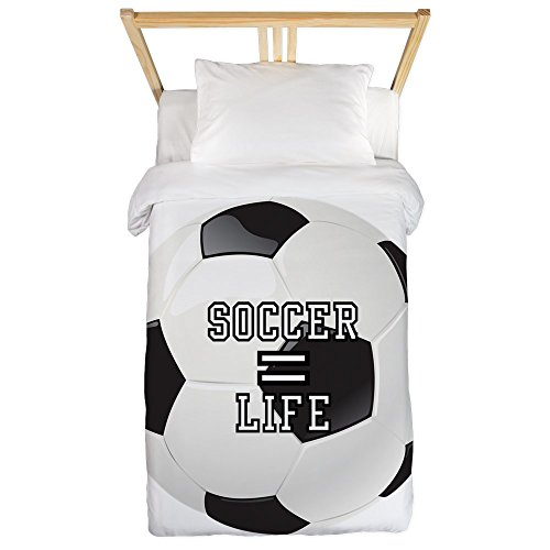 Twin Duvet Cover Soccer Football Futbol Equals Life by Royal Lion