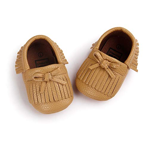 Moda Del 0 Bebé Bowknot Para Meses De Pasos La 18 Bebé Caqui 12 primeros 12 6 Zapatos Niña Borla 6 Auxma zapatos v0xwI6qYn