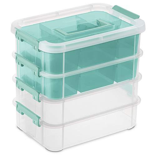 Sterilite Stack & Carry 4 Layer Handle Box & Tray Organizer 10.6
