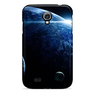 Slim Fit Tpu Protector Shock Absorbent Bumper Blue Planet Case For Galaxy S4