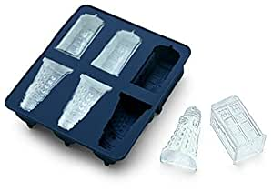Dr. Who Tardis and Daleks Silicone Ice Cube Mold Tray (Candy Making, Decorating, Baking, Chocolate Making)