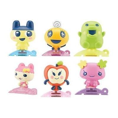 Tamagotchi Tamatown 6 Pcs. Gotchi Figure Charm Set. Mametchi , Kuchipatchi , Chamametchi , Ringotchi , Violetchi: Toys & Games