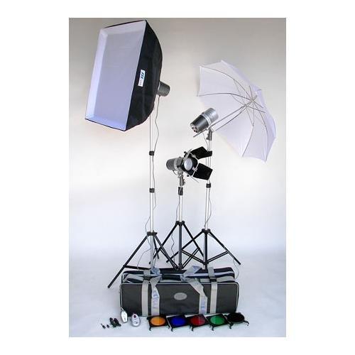 Jtl Studio Lighting (JTL TL-160 Versalight Kit with Three J-160 Fan Cooled Monolights, Stands, Soft Box, Artwork Kit, Snoot, Umbrella, Case & Bonus Digifirer Kit)
