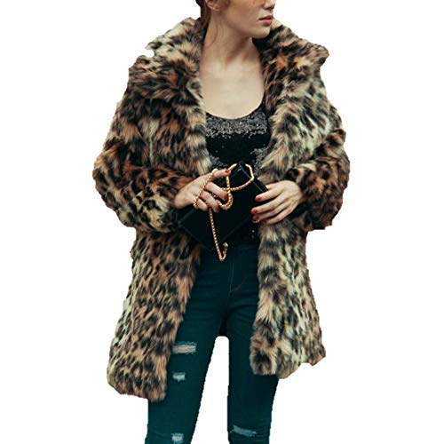 Comeon Fashion Faux Fur Jackets Coats Women\