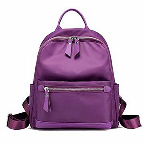 Casual Daypack Hiking Voguezone009 Ccaybp180731 Fashion Backpacks Backpacks Nylon Purple Women 76qgU