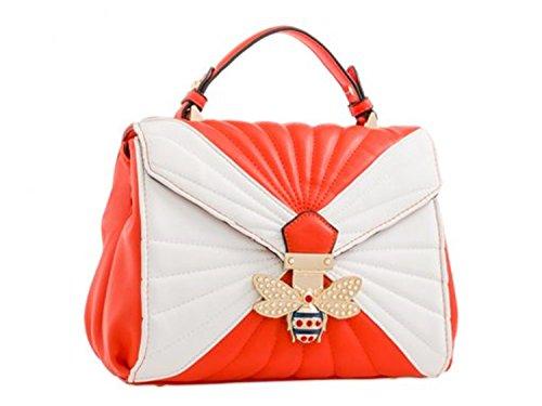 Bee Shoulder LeahWard Body Scarlet 61 Floral Women's Bee Cross Handbags Bag White qOwgP6q