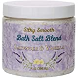 Bath Salt Blend | Five Different Salts from Around the World and Essential Oil | Good for Sore Muscles, Psoriasis, Eczema, Detox and more | Made in America | (Lavender & Vanilla)
