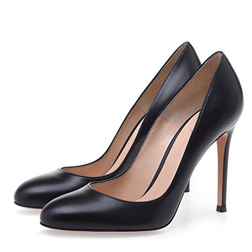 Punta Work XUE Business con Un y Color de Fiesta Tacones Black Vestido PU de 34 UN Formal Primavera Zapatos Noche Verano Tamaño Aguja Mujer Boda Zapatos rUHqx0r8