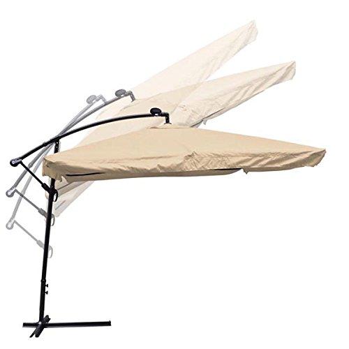 9x9ft Square Offset Patio Umbrella w/ LED Lights