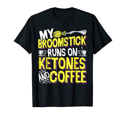 Keto Paleo Halloween Shirt: My Broomstick Runs on