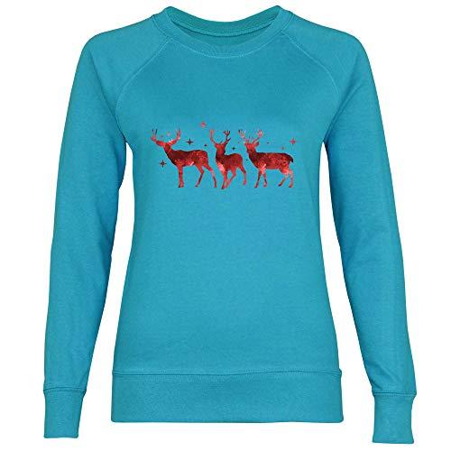 Femme Trois Royal Rennes Shirt Blue Sweat Azure UtUrECxwqn