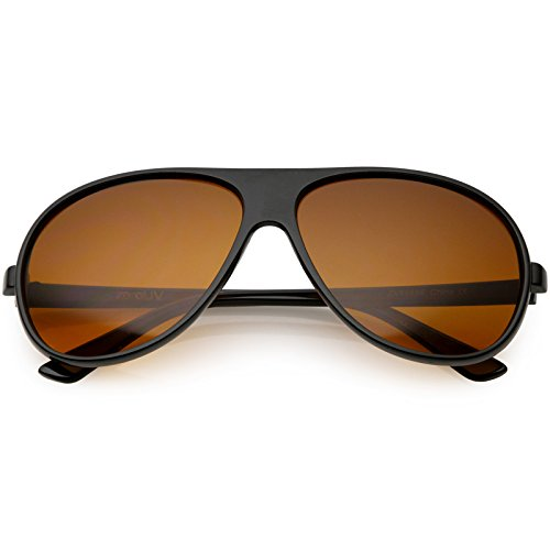 sunglassLA - Hangover Costume Aviator Sunglasses Blue Blocking Lens 64mm (Black/Orange) -