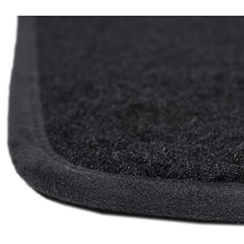 Alfombrillas para coche Aspecto terciopelo 3 uds - Antideslizante Modelo Star Moqueta en negro 900 g//m/² A medida DBS 1763959 Alfombrillas de coche