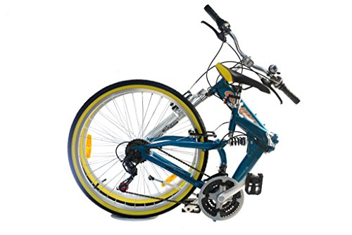Columba 26 Inch Alloy Folding Bike Shimano 18 Speed Macaw RJ26A MCW