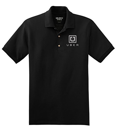 HAND EMBROIDERED UBER BLACK POLO SHIRT