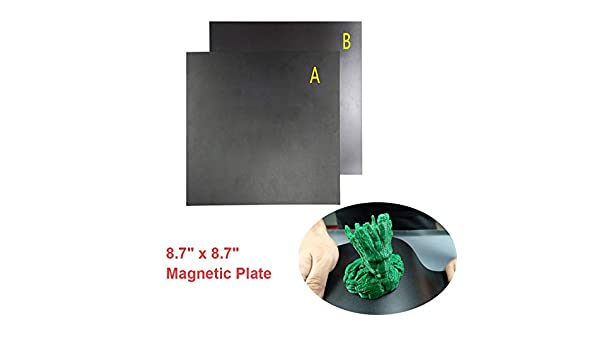 Cinta adhesiva magnética para impresora 3D de 8.7 x 8.7 pulgadas ...